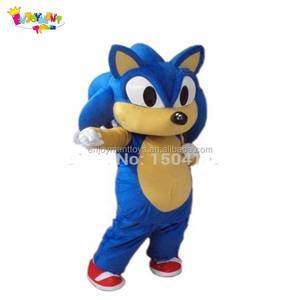 Funny custom made sonic mascot costumes for sale