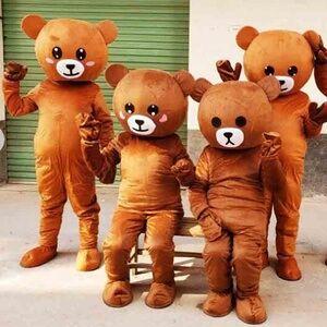 Enjoyment CE custom brown emoji bear  Mascot cartoon Costumes For Adult