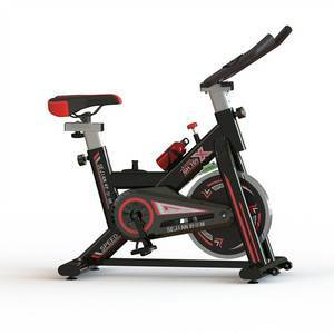 Indoor Cycling Spinning Bike Stationary Bicycle with 15lbs Flywheel, Pulse Rate Sensors, LCD Display and Holder