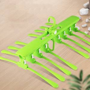 3 Colors Saving Space Rotating Magic Folding Plastic Skirt Clothes Hanger For 8 In 1 Clothes Hanger