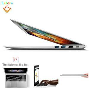 Ultra-thin 15.6 inch 1920*1080 Pixel Intel i7-6500U Windows 10 win10 PC Netbook Laptop with metal cover case