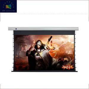 4K Home Theater High End High Quality l Motorized Tab Tension  ALR Black Crystal Projector Screen with Mute Tubular Motor