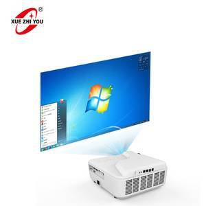 Ultra Short Throwing Projector Built-in Computer 128GB Laser Projector DLP For Teaching And Meeting