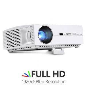 AUN Projector 6500 Lumens Full HD 1920x1080P LED Projector Support 4k Android Home Theater Projectors F30UP