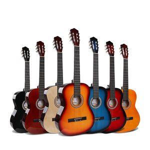 Custom 39inch nylon strings electric travel spanish classic guitarra classical guitar cutaway price oem
