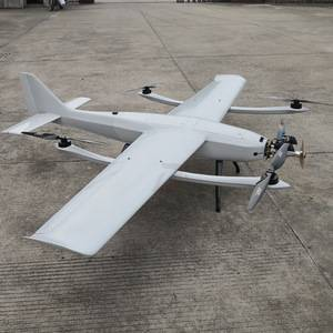 Long Endurance Fuel Power Fixed Wing VTOL UAV Surveillance Survey Mapping Gasoline Engine Drone