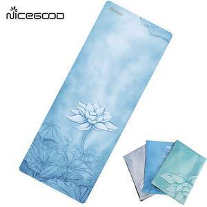 China Supplier Private Lable 1mm Foldable Yoga Matt Eco suede Travel Yoga Mat Factory
