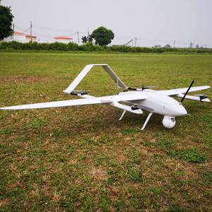 Electric Powered 2 Hours Endurance VTOL Fixed Wing Drone Aerial Surveillance 3D Survey Mapping UAV
