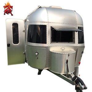 Factory hot sales travel camper aluminum airstream trailer