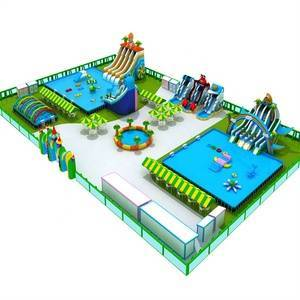 Popular Entertainment inflatable water park for sale factory customized models