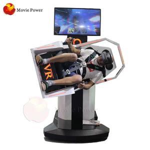 9d Arcade Machine 720 Degree VR Flight Simulator Cockpits For Sale Shrill Screaming Experience