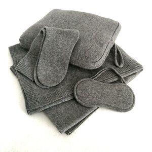 Travel Pouch Bag Set Cashmere Travel Blanket Set