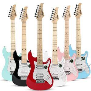 Custom  colorful travel mini kids electric guitar for child