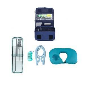 Wholesale Travel Accessories Camping Travel Kits With air pillow toothpaste washing cup