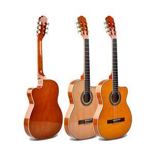 oem factory price 39inch thin body cutaway nylon travel classical guitar