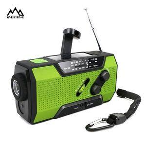outdoor travel essential hand crank solar radio camping emergency survival kit