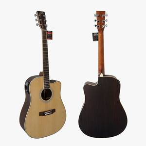 OEM provided  Handmade Solid Top Electric Acoustic Guitar