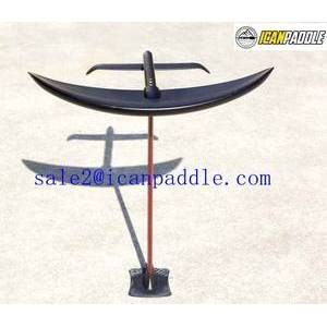 Hydrofoil in Surfing plate base aluminum mast is hollow