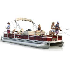 Factory price 8.2m 27ft premium pontoon boat for fresh water fishing