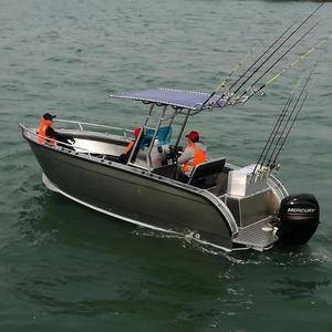 High Speed Off-shore Aluminum Fishing Boats Luxury Vehicle With T-top and Lifting Table for sale