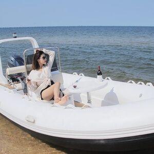 China inflatable boat rib fiberglass boat hypalon