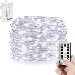 Homestarry 66 LED Mini Battery String Lights, 16 Feet, Cool White