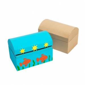 Colorations® Decorate Your Own Papier-Mache Treasure Chests - Set of 12