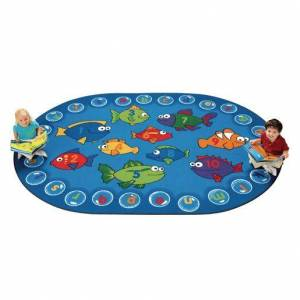 Carpets for Kids® Fishing for Literacy - 6' x 9' Oval