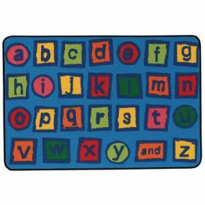 "Carpets for Kids® Alphabet Blocks 3' x 4'6"" Rectangle Kids Value Carpet"