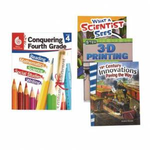 Shell Education Conquering Fourth Grade, 4-Book Set