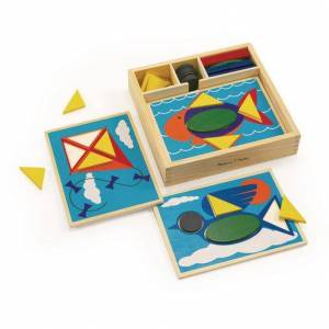 Melissa & Doug ® Beginner Pattern Block Puzzles - 35 Pieces