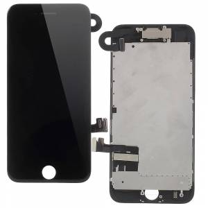 For iPhone 7 4.7 LCD Screen and Digitizer Assembly + Frame Replacement Part (Made by China Manufacturer, 380-450cd/m2 Brightness) - Black