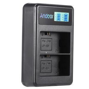 Andoer LP-E6 Rechargeable LED Display Li-ion Battery