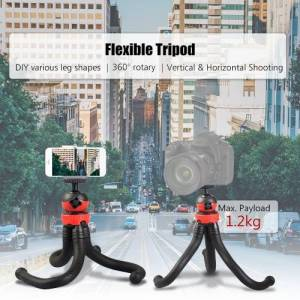 Mini Flexible Tripod Octopus Spider Stand Holder