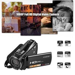 Andoer HDV-V7 PLUS 1080P Full HD 24MP Portable Digital Video Camera Camcorder