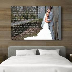 """Canvas Vows 783358054  in First Wedding Anniversary Gift - Your Wedding Vows On Canvas (Size: A personalized anniversary canvas using your wedding vows, lyrics or poem. Instructions Step 1: Choose your canvas size from the drop down menu. Step 2: Choose how many you would like to order. Step 3: Place the order by pressing """"Add To Cart"""")"""