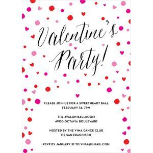 Evermine Baby Shower Invitations - Purple - Confetti Hearts