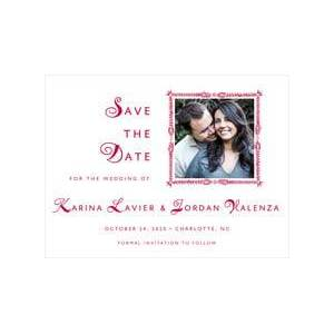Evermine Custom Save-The-Date Cards - Deep Red - Love