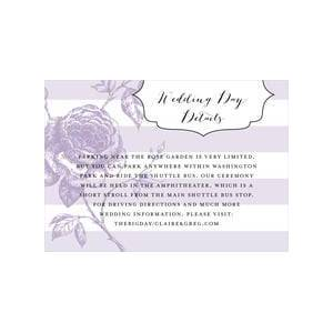 Evermine Custom Enclosure Cards - Lilac - Striped Rose
