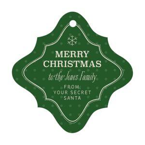 Evermine Custom Fancy Diamond Tags - Deep Green - Iconic Christmas