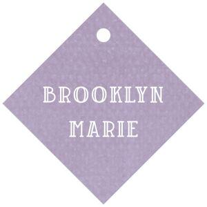 Evermine Custom Small Diamond Tags - Lilac - Simple Edge