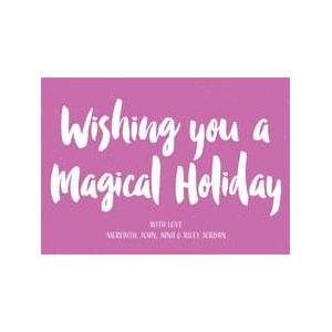 Evermine Holiday Cards - Radiant Orchid - Bonjour  - all