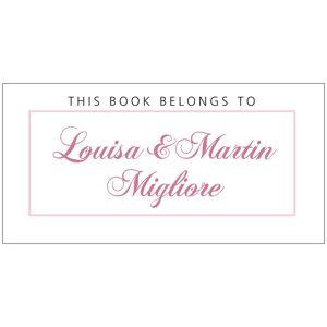 Evermine Custom Bookplates - Pale Pink - Bordeaux