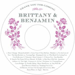 Evermine Custom CD/DVD Labels - Radiant Orchid - Bountiful Botanical