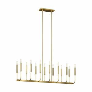 murray feiss Generation Lighting Ellen De Generes Brianna 47 Inch 14 Light Linear Suspension Light Brianna - EC10614BBS - Mid-Century Modern