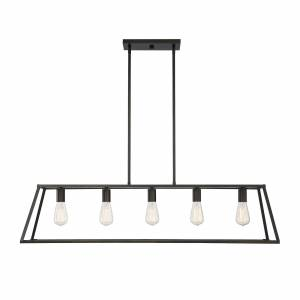 Savoy House Denton 45 Inch 5 Light Linear Suspension Light Denton - 1-327-5-44 - Modern Contemporary