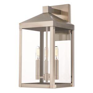 Livex Lighting Nyack 17 Inch Tall 3 Light Outdoor Wall Light Nyack - 20584-91 - Transitional