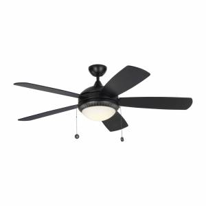 Monte Carlo Fan Discus Ornate 52 Inch Ceiling Fan with Light Kit Discus Ornate - 5DIO52BKD - Modern Contemporary