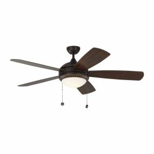 Monte Carlo Fan Discus Ornate 52 Inch Ceiling Fan with Light Kit Discus Ornate - 5DIO52RBD - Modern Contemporary