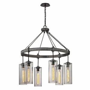 Troy Lighting Union Square 30 Inch 6 Light Chandelier Union Square - F5916 - Industrial